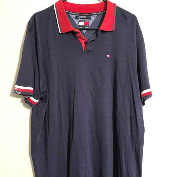 Tommy Hilfiger Other - Vintage Tommy Hilfiger Jeans Polo 90s XL Spell Out